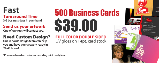 UV Glossy Business Cards